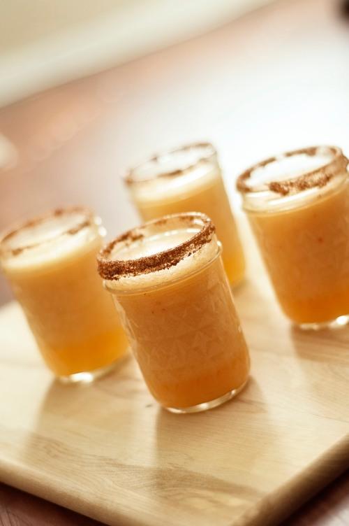 Spicy Cantaloupe Margaritas